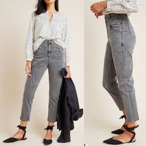 Amadi Anthropologie High Waist Pants Gray Small